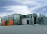 Artists' rendering of proposed European Bioenergy Research Institute bioenergy & biogas lab complex