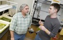 Professor Jeff Lodge and graduate student Eric Lannan of RIT explore algae as a biodiesel fuel.
