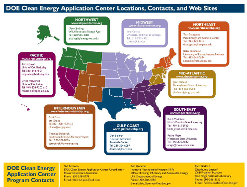 DOE Clean Energy Center Locations
